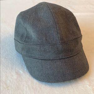 Armani Exchange grey tweed hat